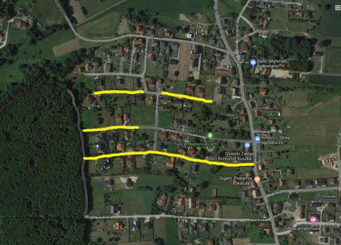 inwestycje drogowe w Nieborowicach