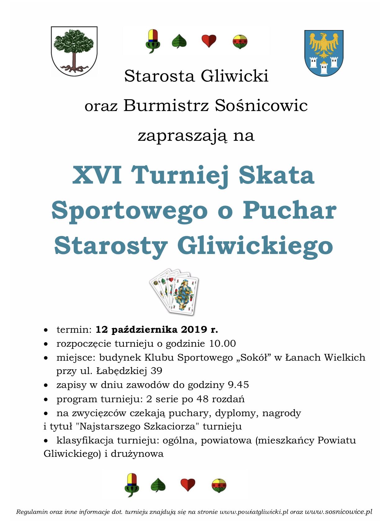 XVI Turniej Skata Sportowego o Puchar Starosty Gliwickiego