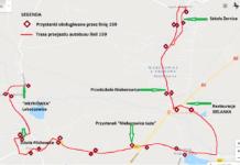 przebieg trasy linii 159