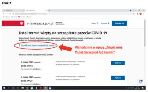 Rejestracja wizyty na szczepienie